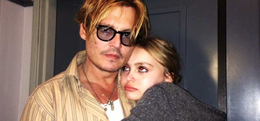 Johnny Depp y su hija