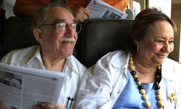 El Gabo y su esposa