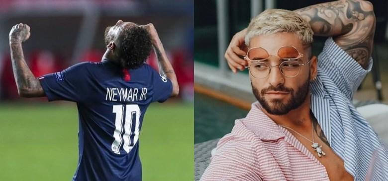 Neymar y Maluma.