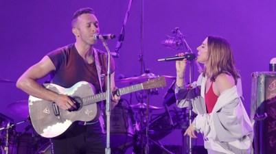 Melanie C y Chris Martin de Coldplay