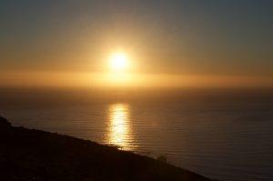 Sonnenuntergang am Signalhill