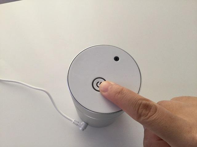 電源ボタン アロモアミニ