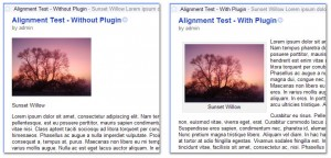 Left-aligned picture in a RSS feed