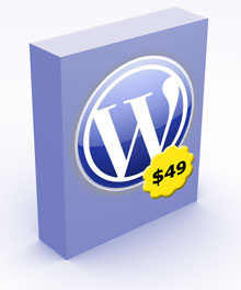 WordPress software box