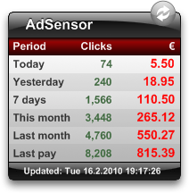 AdSensor 2.9 screenshot