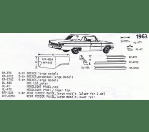 Classic Sheet Metal, Inc  Ford 195556