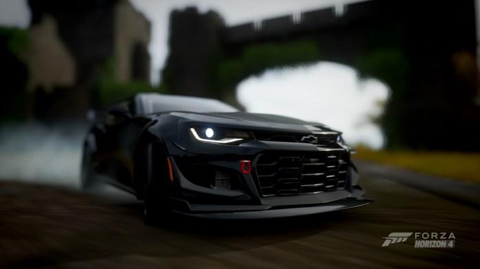 Forza Horizon 4 Depth Of Field Car Chevrolet Camaro Zl1 1le Black Cars Castle Tyre Smoke 1920x1080 Wallpaper Wallhaven Cc