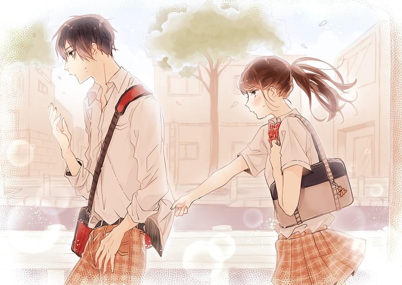 Gambar foto profil wa keren salah satu cara yang bisa membuat profil whatsapp lebih. Anime Couple Shoujo School Uniform Romance Cute Profile View Anime Hd Wallpaper Peakpx