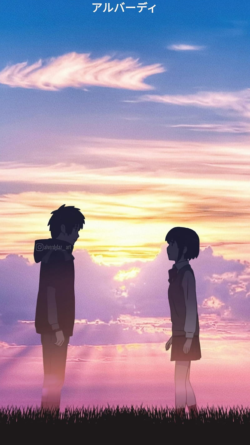 I Will Find You Cloud Sky Anime Aesthetic Sunset Your Name Taki Mitsuha Hd Mobile Wallpaper Peakpx
