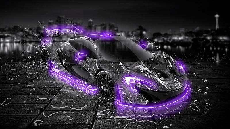wallpaper borders$1.13/ft ($16.99/roll) wallpaper borders are the choice for the quick transformation of any space. Mclaren P1 Water Car In Violet Neon Fantasy Water Car Sportd Neon Violet Hd Wallpaper Peakpx