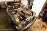 Das Coupe ohne Motorhaube - immer wieder schön der M103 Reihensechszylindermotor