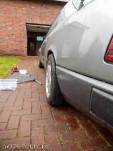 Nachher : Dank 15mm Distanz schließt die Kotflügelkante sauber mit dem Reifen ab