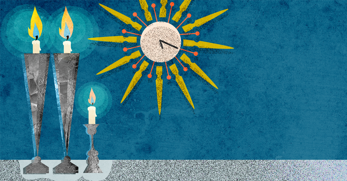why are shabbat candles lit 18 minutes