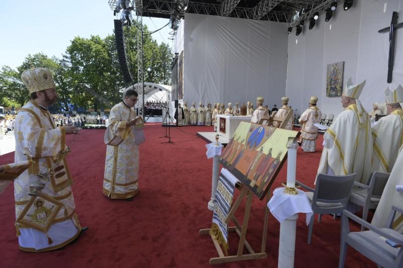 Icono de los siete obispos mártires beatificados