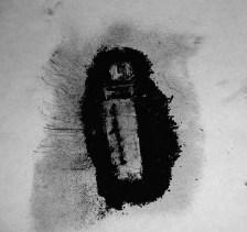 Chessie Gordon-Band / drawing of LIGHTER using burnt match powder