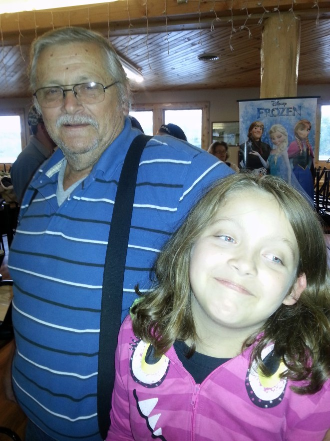Granpa and Cassidy...He was tickling her....
