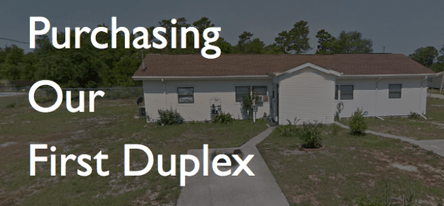 purchasing first duplex real estate investing pensacola fl