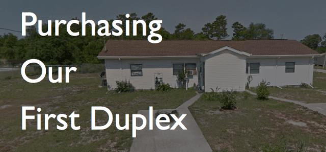 purchasing first duplex real estate investing pensacola fl