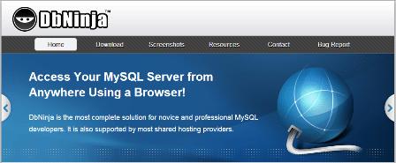 DbNinja | Online MySQL database manager
