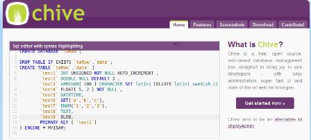 Chive - Web-based MySQL Admin Interface