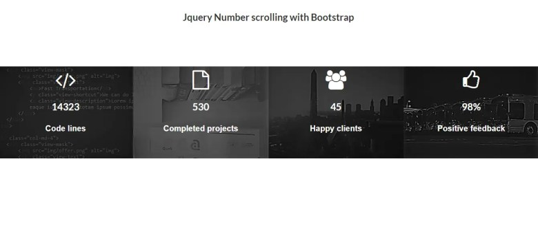 Jquery Number Scrolling With Bootstrap
