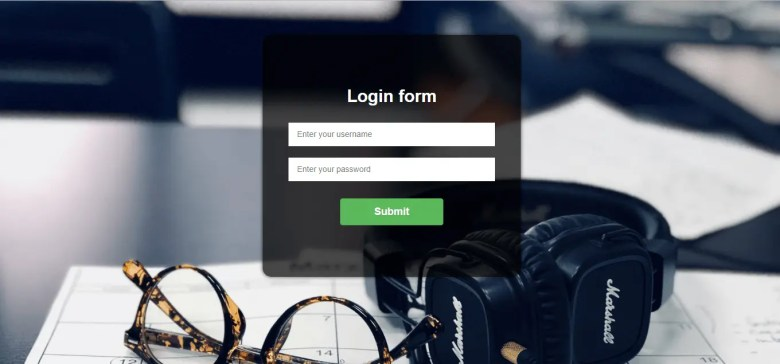 Simple Login Form In Bootstrap