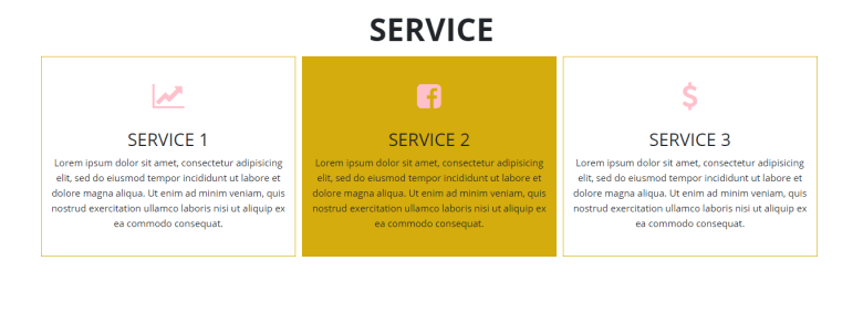 Simple Service Section With Hover Effect In Bootstrap 4