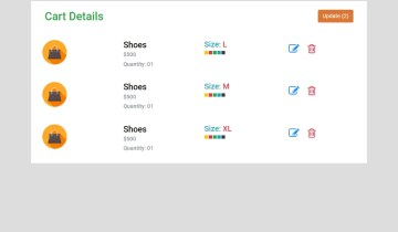 Responsive Shopping Cart In Bootstrap