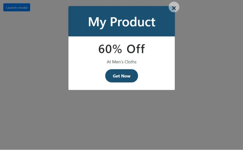 Product Discount Modal In Bootstrap 4