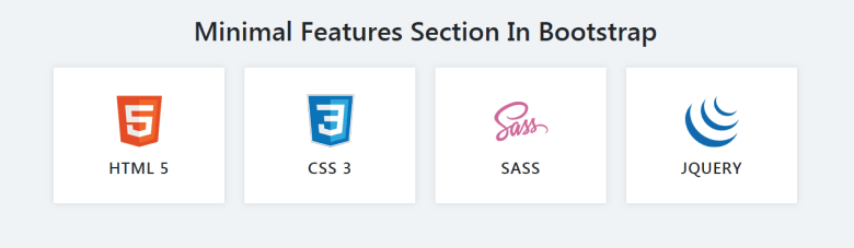 Minimal Features Section In Bootstrap 4