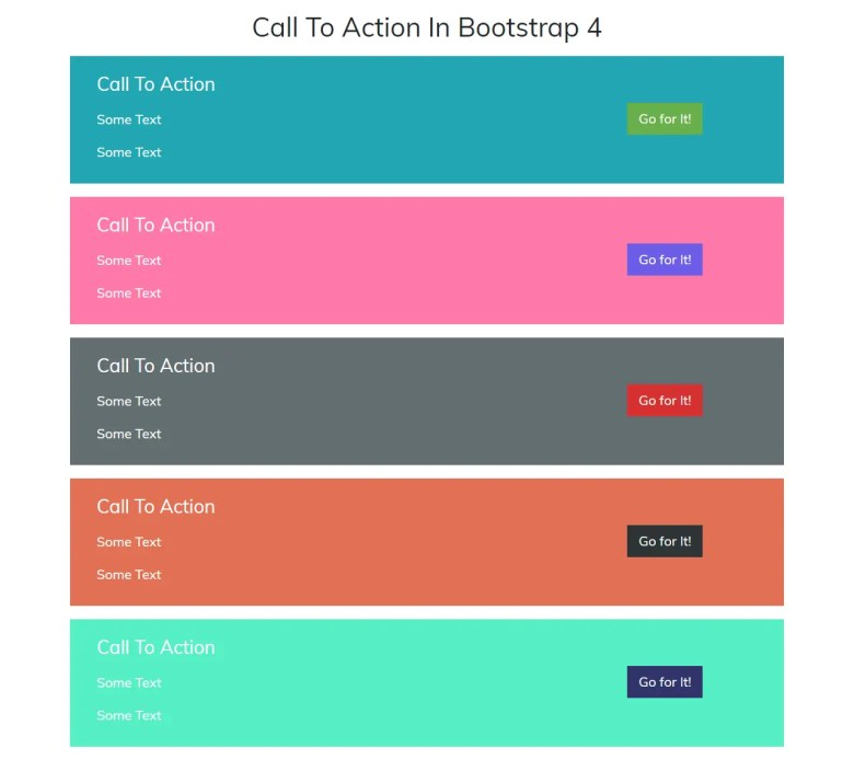 Call To Action In Bootstrap 4