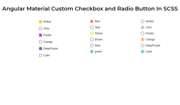 Angular Material Custom Checkbox and Radio Button In SCSS