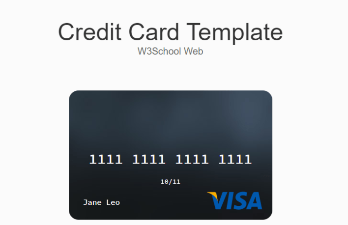 How to create a Credit Card Template