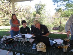 Wayne, N7QLK, talks to a Scout about HF SSB communications