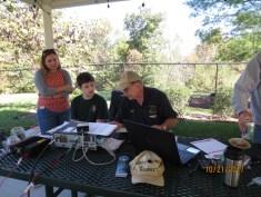 Wayne, N7QLK, talks to a Scout about HF SSB communications