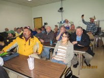 Club Members watching the presentation