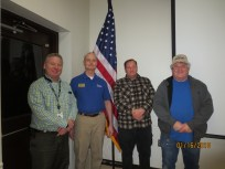 The current board of OVH. Terry, KC4DV; Jeff, WB6UIE; Ray, KM4EKR; Byron, AK4XR