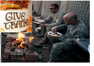 Thanksgiving on Combat Outpost Cherkatah, Khowst province, Afghanistan (U.S. Army)