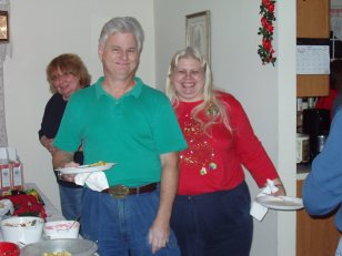 2004 XMAS PARTY - Ruth, Steve and Jan