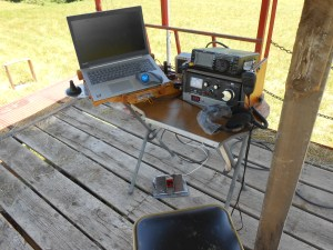 haywagon operating position - Gil KM4OZH