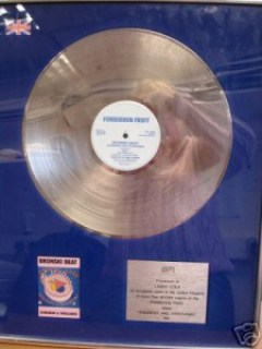 Jimmy Somerville Silver Award Bronski Beat Hundreds and Thousands