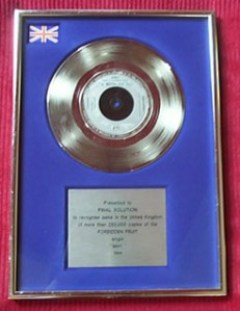 Jimmy Somerville Silver Award Bronski Beat Why