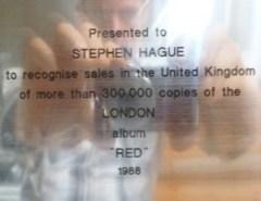 Jimmy Somerville Platin Award The Communards Red