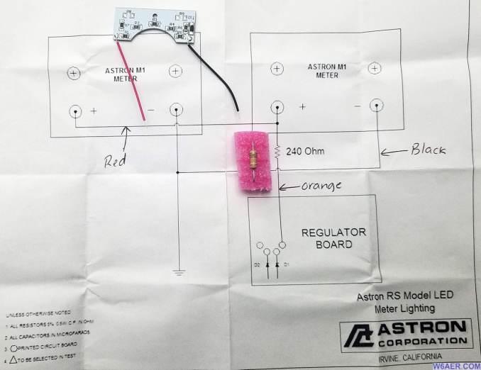 Astron RS-70M 70amp LED Modification Kit
