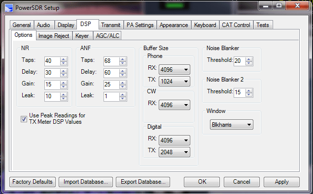 PSDR_DSP_Options