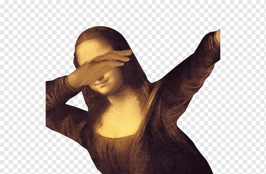 Mona Lisa Painting Internet meme Art, painting, hand, meme, arm png |  PNGWing