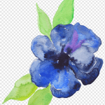 Blue Flower Illustration Blue Watercolor Painting Flower Violet Purple Purple Watercolor Flowers Color Painting Paint Png Pngwing