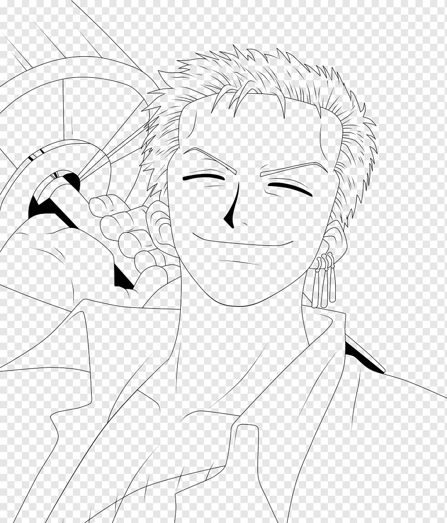 Choose resolution & download this wallpaper. Roronoa Zoro Monkey D Luffy Line Art Diego De La Vega Drawing Zoro Angle White Face Png Pngwing
