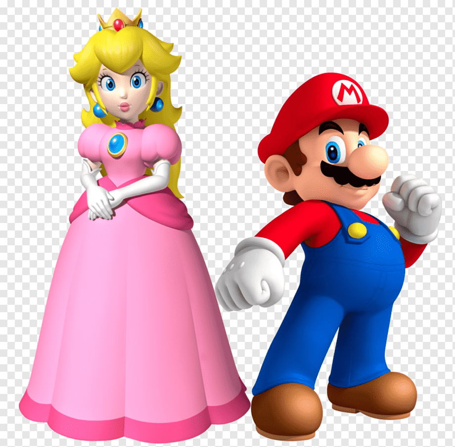 Princess Peach And Mario Princess Peach Super Mario Bros Princess Daisy Mario Heroes Super Mario Bros Video Game Png Pngwing