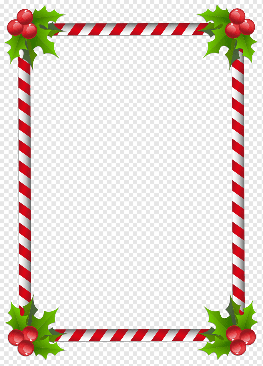 Red And White Frame Santa Claus Christmas Tree Frames Page Border Border Leaf Holidays Png Pngwing